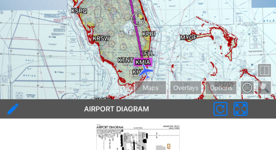 Switch to Destination Airport Diagram on Arrival